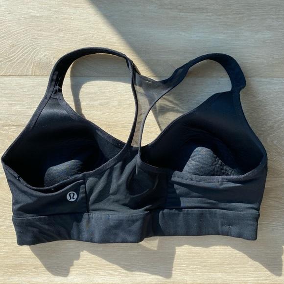 Lulu black sports bra